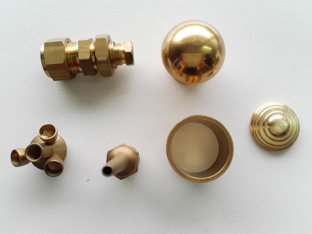 Brass components and parts